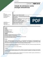 PROTEÇÃO DE ESTRUTURAS CONTRA DESCARGAS ATMOSFÉRICAS - NBR 5419