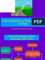 Current Approach to Pavement Design