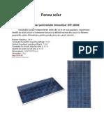 Panou Solar Referat