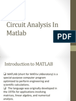 Circuit Analysis in Matlab