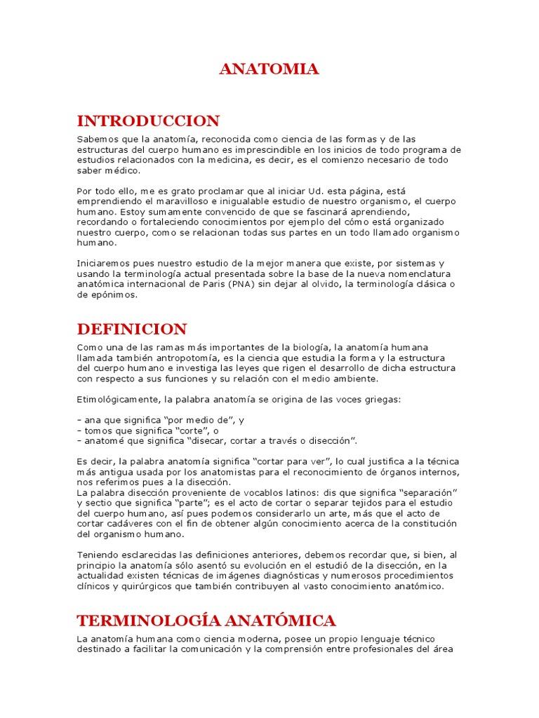 Excepcional Qué Significa La Palabra Anatomía Componente - Imágenes ...