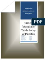 Trade Policy of Pakistan From 2009-2011