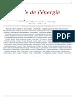 France - Code de l'Energie