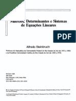 matrizes determinantes e sistemas de equaçoes lineares