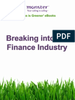 Breaking Into the Finance Industry