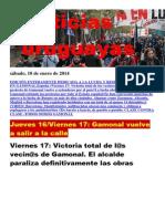 Noticias Uruguayas sábado 18 de enero del 2014