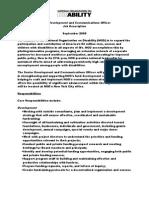 Senior Development and Communications Officer Job Description