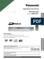 Operating Instructions DVD Recorder Model No. DMR-EZ17