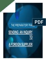 Workshop 3 - Sending an Inquiry