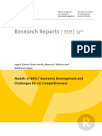 Models of Brics Economic Development and Challenges for Eu Competitiveness