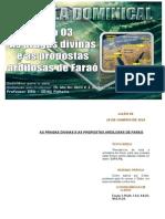 LIÇÃO 03 AS PRAGAS DIVINAS E AS PROPOSTAS ARDILOSAS DE FARAÓ 19JANEIRO2014.doc