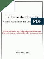 Le livre de l'unicité (Kitabou-Tawhid)