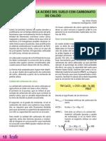 CORRECCION DE LA ACIDEZ DEL SUELO CON CARBONATO DE CALCIO