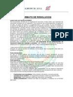 Formato de Resoluciones