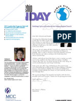 2009 Fellowship Sunday Bulletin Insert - English - EU
