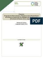Programa de inventario y monitoreo martin garcia_Informe preliminar de campaña_Oct2012