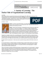 Edgar Schein- The Anxiety of Learning - The Darker Side of Organizational Learning - HBS Working Knowledge