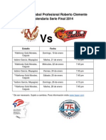 Itinerario Serie Final 2014