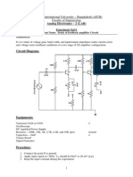 Experiment Name-Study of Feedback Amplifier Circuit