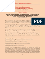 Conversaciones Entre Mehmet Shehu y Mao Zedong (Septiembre-Octubre de 1967)