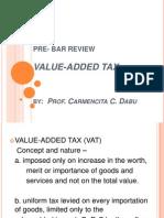 VAT Law- Pre-Bar