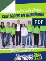 Programa político Rosa Salazar de Alianza País para Rumiñahui 2014