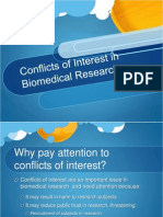 3 Conflicts Interest Biomedical Research