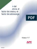 Factor Potencia Cresta y Sobrecarga