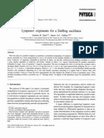 Andrea R. Zeni; Jason a.C. Gallas, Lyapunov Exponents for a Duffing Oscillator