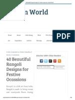 40 Beautiful Rangoli Designs for Festive Ocassions _ Desizn Worldghgb