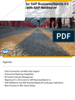 Best Practices for SAP BusinessObjects 4.0 in Combination With SAP NetWeaver