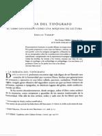 TORNE La Mirada Del Tipografo