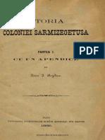 BOGDAN I Istoria Coloniei Sarmisegetuza