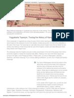 TOPONYM of YOGYAKARTA - Tracing the History of Kampongs Naming