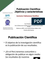 1 Publicacion Cientifica Objetivos y Caracteristicas