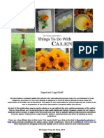 Things to Do With Calendula