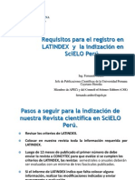 9 Requisitos LATINDEX e Indizacion en SciELO