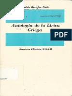Antologia de la Lírica Griega
