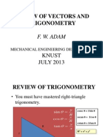 Review of Vectors and Trigonometry