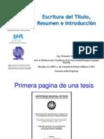 14 Redacción del Título, Resumen e Introducción