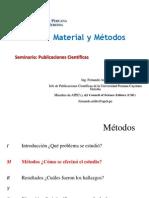15 Material y Metodos en publicaciones cientificas