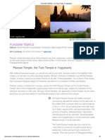 PLAOSAN TEMPLE - The Twin Temple in Yogyakarta
