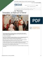 """16-01-2014 'Promueve Programa """"Reynosa, Tamaulipas, un Paseo por la Historia""""'"""