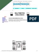 Burgoseletronica - Instrumentação - Multímetro analógico - Teste de componentes - Transformadores