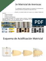 Acidificación Matricial de Areniscas