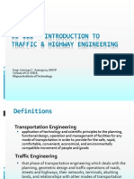01 CE 122 Intro to Traffic & Highway Engineering