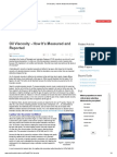 Oil Viscosity - How It's Measured and Reported