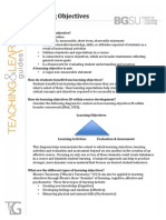 Elements of Learning Objectives