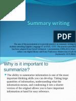 Summary Writing PP