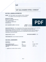 Hot-Dip Galvanizing Material Safety Data Sheet